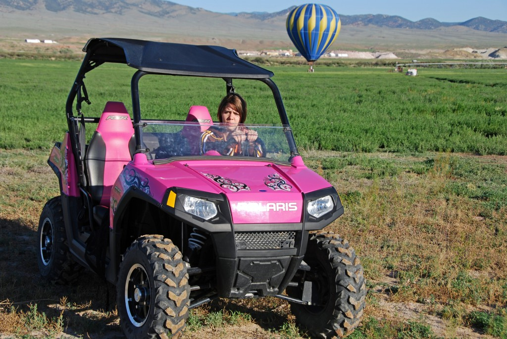 """Side by Side"" Balloon Chasing in RZR"